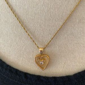Disney Gold Mickey Mouse Heart Necklace